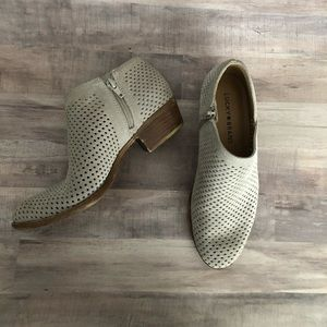 Lucky Brand Perforated Gray Ankle Bootie